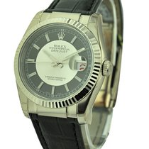 Rolex Unworn 116139_blk_stick Mens Datejust - White Gold on...
