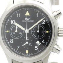 IWC Polished Iwc Flieger Chronograph Steel Quartz Mens Watch...