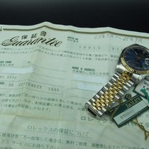 Rolex DATEJUST 16013 2-Tone with ORIGINAL Blue Dial with Paper