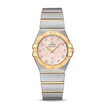 Omega Ladies 12320276057005 Constellation Diamond Gold Watch