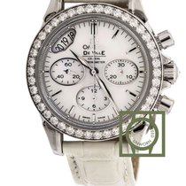 Omega De Ville Co-Axial Chronograph 35mm Diamond Bezel NEW