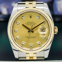 Rolex 116233 Datejust Champagne Diamond Dial 18K / SS (26476)