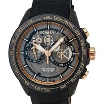 Graham Silverstone RS Skeleton Black and Gold Chronograph...