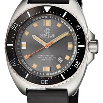 Deep Blue Deep Star 1000 Swiss Automatic Grey Sunray Dial...