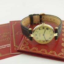 Cartier Must Vermeil Quarz 925 Silber Vergoldet Ref 17037582...