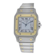 Cartier Men's Unisex  Santos Galbee Steel Gold 29MM...
