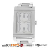 Bulgari Authentic Men's Bvlgari Rettangolo RT45S Steel...