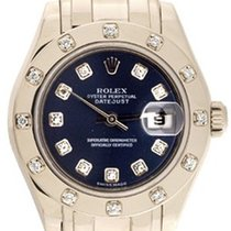 Rolex Ladies Rolex Masterpiece/Pearlmaster Watch 80319 Blue Dial