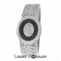 Piaget Rare Lady's Oval 18K White Gold Diamond Dial Woven...
