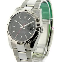 Rolex Used 116264_used_blk_stick Mens Steel TURN-O-GRAPH...