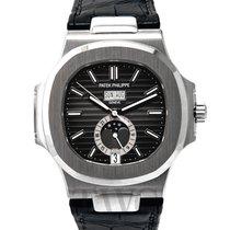 Patek Philippe Nautilus Black Steel/Leather 40.5mm - 5726A-001