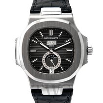 パテック・フィリップ (Patek Philippe) Nautilus Black Steel/Leather...