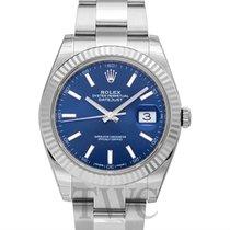 롤렉스 (Rolex) Datejust 41 Blue 18k White Gold/Steel Oyster 41mm...