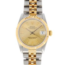 Rolex Oyster Perpetual Datejust Midi Size Gold Champagne Steel...