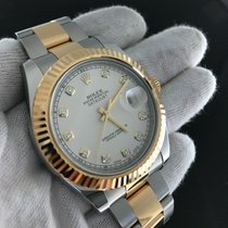 Rolex Datejust 116333 Two Tone Steel/yellow Gold Ivory Diamond...