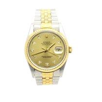 Rolex Date Just Automatik Stahl Gold