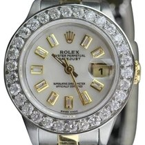 Rolex Datejust Ladies  White Mother Of Pearl Dial Gold And...