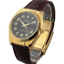 Rolex Used 116138 Datejust 36mm Yellow Gold on Strap - Black...