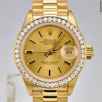 Rolex Datejust President / Diamond Bezel / 18k Yellow Gold / 6917