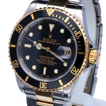 Rolex Oyster Submariner Gold Steel Black Dial 40 mm (Full Set)