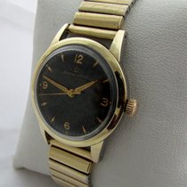 Eterna Gold / steel with rare black dial in good working...
