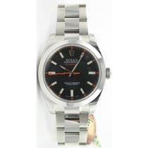 Rolex MILGAUSS Black Dial In Stainless Steel Model 116400