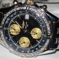 Breitling Chronomat Automatic Chronograph 18K Gold Diamonds