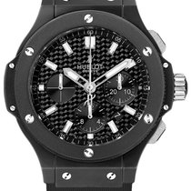 Hublot Big Bang Ceramic Black Magic 44mm 301.ci.1770.rx Rubber...
