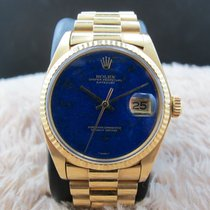 Rolex DATEJUST 1601 18K YG with Original Lapis Dial with...