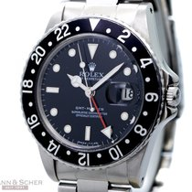 Rolex Vintage GMT Master Quick Set Ref-16750 Stainless Steel...