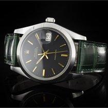 Rolex Oysterdate (34mm) Ref.: 6694 aus 1974-75 mit schwarzem...