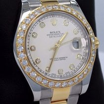 Rolex Datejust II 116333 2tone 18k Yellow Gold/ss Ivory 3.25ct...
