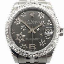 Rolex Lady-Datejust Flowers Diamonds Aftermarket 31mm Box/Papiere