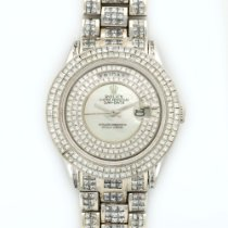 Rolex White Gold Day-Date Custom Diamond Watch