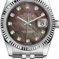 Rolex New Style Datejust Stainless Steel  Fluted Bezel &...
