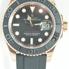 Rolex Yachtmaster new model rose gold ceramic bezel rubber,Unworn