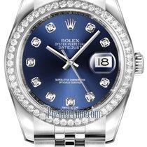 Rolex Datejust 36mm Stainless Steel 116244 Blue Diamond Jubilee