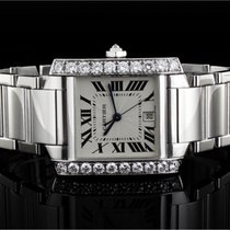 Cartier Tank Francaise (20x24mm) Ref.: WE1002S3 Quartz in 18k...