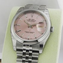 Rolex Datejust 36mm Pink Index Stick Jubilee 116200 Box and...