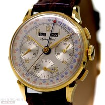 Mathey Tissot Vintage Chronograph Calender Watch 18k Yellow...
