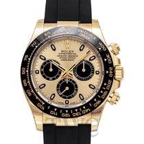 Rolex Daytona Champagne and Black 18k Yellow Gold 40mm - 116518LN