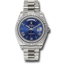 Rolex Day-Date 40 228239 18K White Gold 40MM Blue Roman Dial