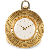 Gübelin World Timer Pocket Watch in 14K Gold-Filled
