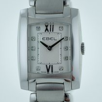 Ebel Brasilia Ladies, Stainless Steel,Silver Diamond Dial,...