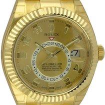 Rolex : Sky-Dweller :  326938 :  18k Gold : champagne Arabic...