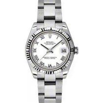 Rolex Datejust Ladies Midsize 178274-WHTRO White Roman White...