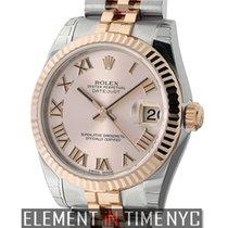 Rolex Datejust Steel & Rose Gold 31mm Pink Roman Dial