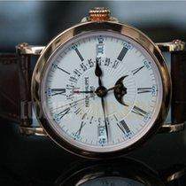 Patek Philippe Perpetual Calendar 18kt Rose Gold Brown Leath