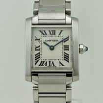 까르띠에 (Cartier) Tank Anglaise Medium Quartz Steel Lady 2384