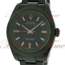 "Rolex Milgauss ""Green Crystal"", Black Dial - Black..."